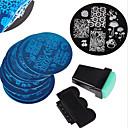 cheap Makeup & Nail Care-12 pcs Stamping Plate Template Stylish / Fashion Nail Art Design Fashionable Design Daily / Metal