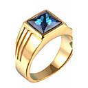 hesapli Küpeler-Erkek Bildiri Yüzüğü - Yapay Elmas, Titanyum Çelik Kişiselleştirilmiş, Vintage, Moda 7 / 8 / 9 Altın / Gümüş Uyumluluk Yılbaşı Hediyeleri / Parti / Günlük