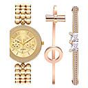 hesapli Kadın Saatleri-Kadın's Bilezik Saat Bilek Saati Quartz Alaşım Bant Analog Halhal Zarif Altın Rengi - Altın