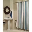 levne Čistící náčiní-Koupelnové závěsy Moderní Polyester S proužky na stroji