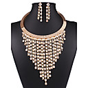 ieftine Inele-Pentru femei Seturi de bijuterii Colier / cercei Declarație femei Vintage European Modă cercei Bijuterii Auriu Pentru Nuntă Petrecere Zilnic Casual Bal Muncă / Cercei / Coliere