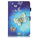 cheap Bathroom Gadgets-Case For Samsung Galaxy / Tab S2 8.0 / Tab S2 9.7 Samsung Galaxy Case Wallet / Card Holder / with Stand Full Body Cases Butterfly Hard PU Leather for Tab 4 7.0 / Tab E 9.6 / Tab E 8.0