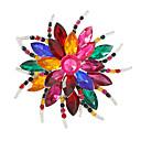 hesapli Broşlar-Kadın's Kristal Broşlar - Çiçek Kişiselleştirilmiş, Moda, Renkli Broş Beyaz / Beyaz / Çeşitli Renk / Gümüş / Gri Uyumluluk Parti / Günlük