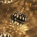 preiswerte RGB Regler-2,5 m Leuchtgirlanden 20 LEDs LED Diode Warmes Weiß Fernbedienungskontrolle / Abblendbar / Wasserfest 5 V / Verbindbar / Farbwechsel / IP44