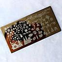 お買い得  メイク & ネイルケア-ツール印刷転送をスタンプ1個クリスマスDIYの画像スタンプスタンパプレートマニキュアテンプレートネイルアート