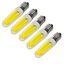hesapli LED Mısır Işıklar-JIAWEN 5pcs 360lm E14 LED Mum Işıklar 4 LED Boncuklar COB Dekorotif Sıcak Beyaz Serin Beyaz 220V 220-240V