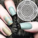 tanie Makijaż i pielęgnacja paznokci-1 pcs tłoczenie Plate Szablon Nail Art Design Modny design Elegancki / Modny Codzienny