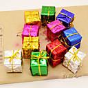 preiswerte Innendekoration-12pcs der Weihnachtsbaum Zubehör Produkt Laser kleine Geschenktüte sechs Arten Farbe