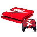 رخيصةأون اكسسوارات PS4-B-SKIN PS4 الحقائب، وحالات والجلود من أجل PS4 ، حداثة الحقائب، وحالات والجلود PVC وحدة