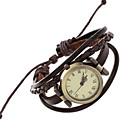 Χαμηλού Κόστους Γυναικεία ρολόγια-Γυναικεία Χαλαζίας Ρολόι Καρπού / Βραχιόλι Ρολόι Πανκ PU Μπάντα Βίντατζ / Καθημερινό / Μποέμ / Μοντέρνα / Βραχιόλι Καφέ