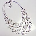 preiswerte Ohrringe-Damen Perle Mehrschichtig Statement Ketten - Perle Erklärung, Europäisch, Perle Weiß Modische Halsketten Schmuck Für Alltag, Normal