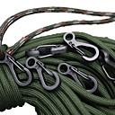 ieftine Carabiniere-Cataramă Multitool Multi Function Convenabil Aliaj din aluminiu Drumeție Camping Exterior Interior Călătorie Negru Argintiu Negru brut 10 PC