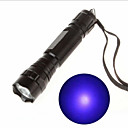 cheap Flashlights-Black Light Flashlights / Torch LED - 1 Emitters 130 lm 1 Mode Rechargeable Ultraviolet Light Camping / Hiking / Caving Cycling / Bike Traveling