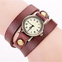 cheap Women's Watches-Women's Bracelet Watch Wrist Watch Quartz Leather Black / White / Blue Cool Punk Analog Ladies Charm Vintage Casual Bohemian - Red Green Blue