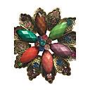 tanie Etui do iPhone-Damskie Broszki - Kryształ, Imitacja diamentu Kwiat, Flower Shape Broszka Brown / Niebieski / Assorted Color Na Impreza / Codzienny / Casual