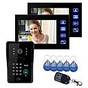 """billige Mode Halskæde-Touch-tast 7 """"LCD video dørtelefon Intercom System Wth IR Kamera & kodetastatur 1V2"""
