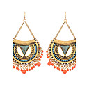 저렴한 귀걸이-여성용 롱 드랍 귀걸이 귀걸이 숙녀 보헤미안 보호 아프리카 사람 보석류 골드 / 실버 제품 결혼식 파티