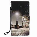 저렴한 LED 콘 조명-케이스 제품 화웨이 P9 라이트 / Huawei / 화웨이 P8 라이트 지갑 / 카드 홀더 / 스탠드 전체 바디 케이스 시티 뷰 하드 PU 가죽 용 Huawei P9 Lite / Huawei P8 Lite / Huawei