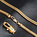 hesapli Kolyeler-Erkek Zincir Kolyeler - Altın Kaplama Moda Altın Kolyeler Uyumluluk Düğün, Parti, Günlük