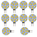 abordables LED à Double Broches-10 pcs g4 led rond lampe ampoule de gamme 15 leds 5730 smd 12v - 24v dc / ac blanc chaud blanc froid