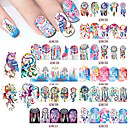 cheap Makeup & Nail Care-12pcs set nail sticker water transfers stickers nail decals tassel feather dangle