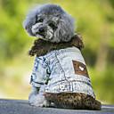 hesapli Köpek Giyim ve Aksesuarları-Köpek Paltolar / Kurtki jeansowe Köpek Giyimi Kotlar Siyah / Mavi Polar Kumaş / Kot Kumaşı Kostüm Evcil hayvanlar için Kovboy / Sıcak Tutma / Moda