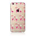 hesapli Çizim ve Yazı Aletleri-Pouzdro Uyumluluk Apple iPhone X iPhone 8 Plus iPhone 5 Kılıf iPhone 6 iPhone 7 Yarı Saydam Temalı Arka Kapak Flamingo Yumuşak TPU için