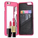 preiswerte Make-up & Nagelpflege-Hülle Für Apple iPhone 8 iPhone 8 Plus iPhone 7 Plus iPhone 7 Kreditkartenfächer Spiegel Rückseite Volltonfarbe Hart PC für iPhone 8 Plus
