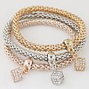 cheap Necklaces-Women's Layered Stack Charm Bracelet - Imitation Diamond Luxury, European, Simple Style Bracelet Rainbow For Gift Daily