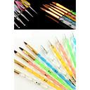 Buy 5 Sizes 2-way UV Gel&Acrylic Nail Art Painting Draw Brush Dotting Marbleizing Pen Tool