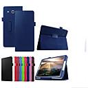 hesapli Küpeler-Pouzdro Uyumluluk Samsung Galaxy Satandlı Flip Tam Kaplama Kılıf Tek Renk Sert PU Deri için Tab E 9.6