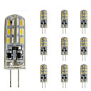 cheap Headsets & Headphones-10 pcs 1.5W Slim G4 LED Crystal Bulb Bi-pin 24 SMD 3014 DC 12V  Green Blue Red Light