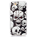 voordelige iPhone-hoesjes-hoesje Voor Apple iPhone X iPhone 8 Plus iPhone 5 hoesje iPhone 6 iPhone 7 Glow in the dark IMD Achterkant Doodskoppen Zacht TPU voor