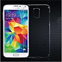 رخيصةأون حافظات / جرابات هواتف جالكسي S-غطاء من أجل Samsung Galaxy حالة سامسونج غالاكسي شفاف غطاء خلفي لون الصلبة TPU إلى S5 Mini