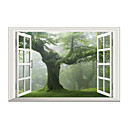 저렴한 장식 스티커-경치 패션 3D 벽 스티커 3D 월 스티커 데코레이티브 월 스티커, 비닐 홈 장식 벽 데칼 유리 / 욕실 벽