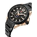 お買い得  メンズ腕時計-NAVIFORCE 男性用 リストウォッチ クォーツ ステンレス ブラック / シルバー 30 m 耐水 カレンダー ムーンフェイズ ハンズ クラシック ファッション - ローズゴールド ブラック / シルバー ホワイト / シルバー 2年 電池寿命 / Maxell SR626SW
