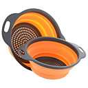 cheap Kitchen Storage-2pcs Kitchen Utensils Tools Silicone Novelty Fruit Basket Fruit