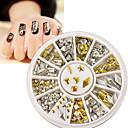cheap Makeup & Nail Care-gold silver metal nail art stickers decor rhinestones tips metallic studs 120pcs