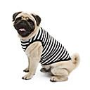 ieftine Imbracaminte & Accesorii Căței-Pisici Câine Tricou Hanorca Îmbrăcăminte Câini Dungi Galben Albastru Roz Bumbac Costume Pentru Primăvara & toamnă Vară Clasic Nuntă Casul / Zilnic
