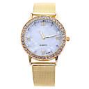 hesapli Saç Takıları-Kadın's Moda Saat Elbise Saat Bilek Saati Quartz Yaratıcı Taşlı imitasyon Pırlanta Alaşım Bant Analog Altın Rengi - Altın