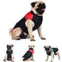 hesapli Hard Disk Kılıfları-Kedi Köpek Paltolar Vesta Köpek Giyimi Zıt Renkli Kırmzı Yeşil Mavi Pamuk Kostüm Evcil hayvanlar için Erkek Kadın's Sıcak Tutma