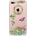 저렴한 아이폰 케이스-케이스 제품 Apple iPhone X / iPhone 8 Plus 투명 / 패턴 뒷면 커버 꽃장식 소프트 TPU 용 iPhone X / iPhone 8 Plus / iPhone 8
