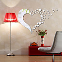 Buy 1 PC Mirrors Shapes Abstract Wall Stickers Crystal Mirror Decorative StickersVinyl Material Home Decoration