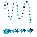 cheap Baking Tools & Gadgets-RayLineDo® 1 Piece 4 Metres Blue Paper Garland For Wedding Birthday Anniversary Party Christmas Girls Room Decoration Stars Shape 7*7CM
