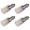 hesapli LED Mum Işıklar-4adet 1.5 W 100 lm E14 LED Filaman Ampuller 2 LED Boncuklar COB Dekorotif Sıcak Beyaz 220 V / 4 parça