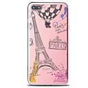 ieftine Carcase iPhone-Maska Pentru Apple iPhone 7 Plus iPhone 7 Transparent Model Capac Spate Cuvânt / expresie Turnul Eiffel Moale TPU pentru iPhone 7 Plus
