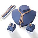 baratos Anéis-Mulheres Diamante sintético Conjunto de jóias - Euramerican Incluir Dourado Para Diário