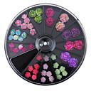 hesapli Makyaj ve Tırnak Bakımı-1set Tırnak Takısı tırnak sanatı Manikür pedikür Günlük Çiçek / Moda / Arkilik / Nail Jewelry
