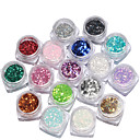 cheap Makeup & Nail Care-17box nail jewelry sequins mixed size manicure colorful sequins