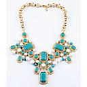 Недорогие Модные ожерелья-Жен. Струнные ожерелья На заказ Роскошь Хром Розовый Светло-синий Ожерелье Бижутерия Назначение Свадьба Поздравления